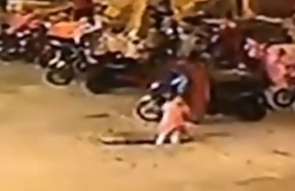 Six-year-old girl plummets down sewer after falling through cover while skipping