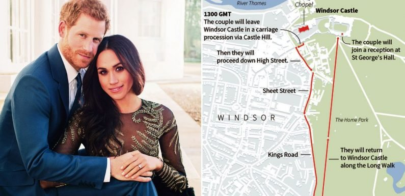 How to get the best view of Harry and Meghan on the the royal wedding procession