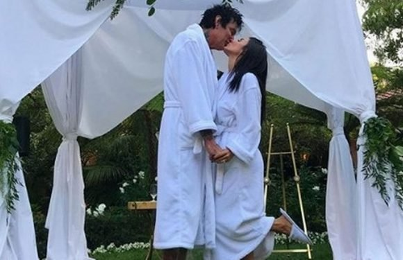 Tommy Lee's girlfriend Brittany Furlan admits their bathrobe wedding was fake