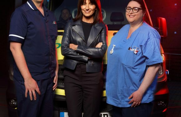 Davina McCall's phobia of blood could see her pass out on A&E Live