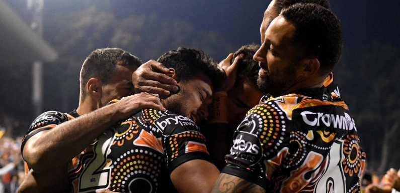 Brooks and Fonua spark Leichhardt party as Tigers overcome Cowboys