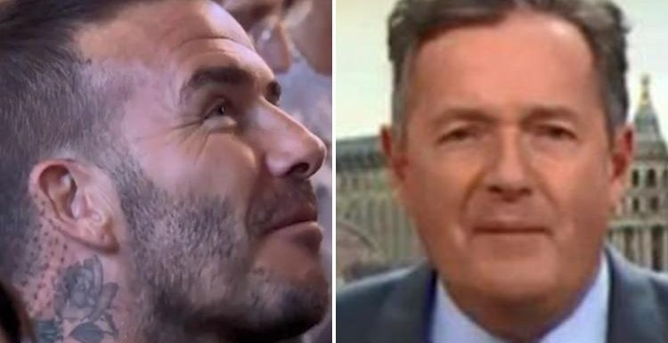Piers Morgan slams David Beckham on Good Morning Britain for chewing gum during Royal Wedding as he brands Victoria a 'sourpuss'