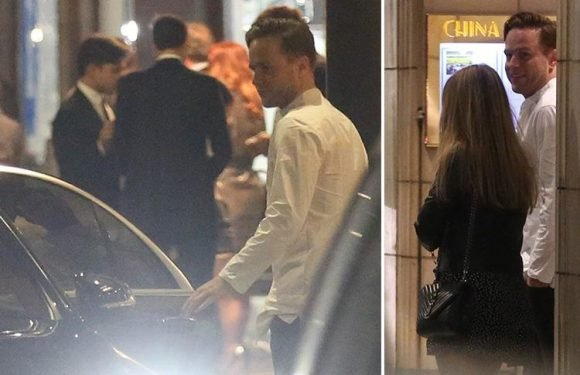 Olly Murs enjoys date with a mystery woman at a restaurant in London before they leave together in his chauffeur-driven car