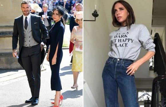 Victoria Beckham mocks those that criticised her Royal Wedding scowl with 'smiling on the inside' post