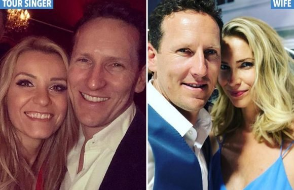 Brendan Cole and wife Zoe put on a united front at magazine party after he got close to a backing singer this weekend
