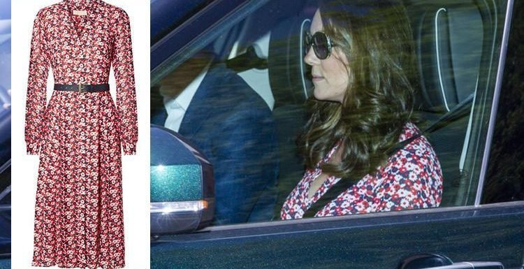 Kate Middleton looks blooming lovely in £215 Michael Kors floral dress