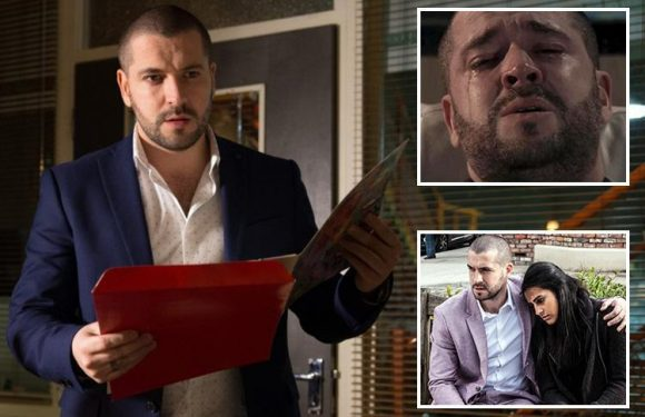 Coronation Street's Aidan Connor leaves Underworld knicker factory to Alya Nazir in his will