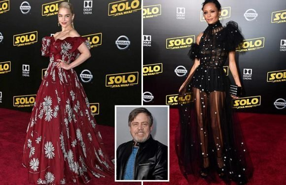 Emilia Clarke and Thandie Newton look out of this world as they are joined by Star Wars legends at Han Solo premiere