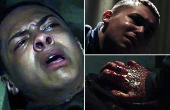 EastEnders shock as Shakil and Keegan are stabbed outside the Queen Vic