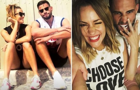 Love Island host Caroline Flack and fiance Andrew Brady seen squabbling on holiday in Greece