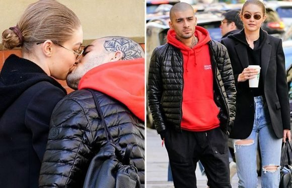 Gigi Hadid and Zayn Malik spark rumours they're back together as they kiss in New York