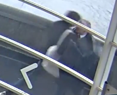 Police hunt pedestrian who launched headbutt attack on man who clipped him with umbrella on London's Tower Bridge