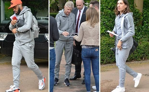 Arsene Wenger arrives at hotel for his last Arsenal game looking calm, content and casual as he signs autographs
