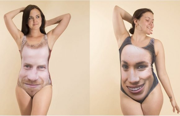 Someone Put Meghan Markle and Prince Harry on Swimsuits, and OMG, the Facial Hair Placement