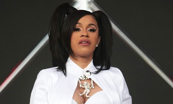 Cardi B: Pregnant Rapper Nearly Falls Out Of Golf Cart After It Almost Flips Over & The Video Is Scary AF