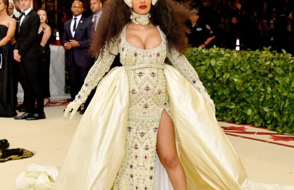 Baby's First Met! Cardi B Shows Off Her Bump at the Met Gala in a Crystal-Covered Creation – and a Crown