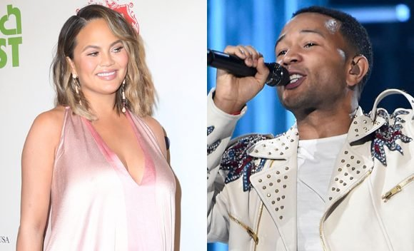 Chrissy Teigen Calls John Legend 'Disgusting' For Leaving Her With Baby Miles For The BBMAs