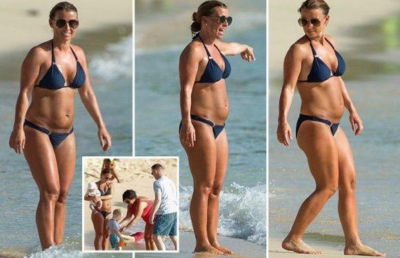 Coleen Rooney soaks up the sun with Wayne and their kids in Barbados