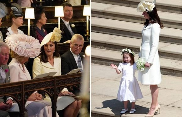 Kate Middleton's 'cream' coloured dress raises eyebrows at the Royal Wedding with viewers accusing her of trying to upstage bride Meghan Markle