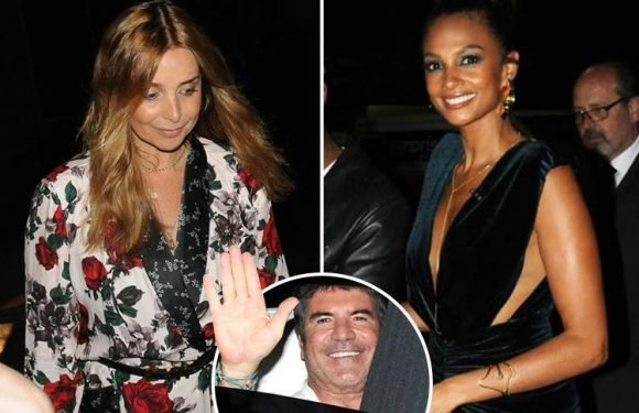 Louise Redknapp, Alesha Dixon and Simon Cowell leave Britain's Got Talent in the early hours of the morning after stage invader causes chaos