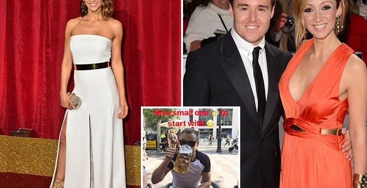 Lucy-Jo Hudson deletes old loved-up tweets about estranged husband Alan Halsall despite insisting split is amicable