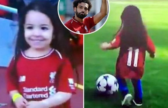 Liverpool star Mohamed Salah jokingly booed by Anfield crowd after taking ball off his daughter during kickabout