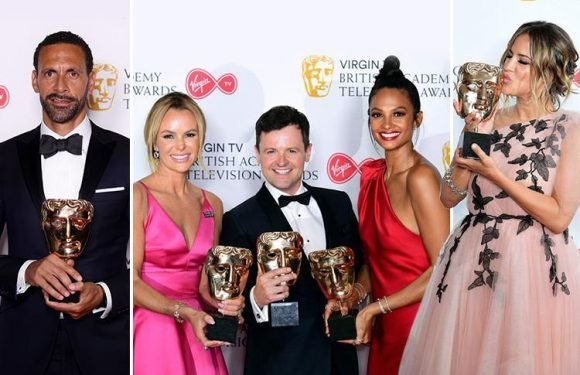Britain's Got Talent scoops top gong at Bafta TV awards as Peaky Blinders, Love Island and Casualty all land prizes