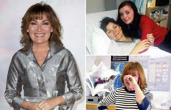 Emotional Lorraine Kelly thanks NHS heroes who saved her life after a horse-riding accident in 2012