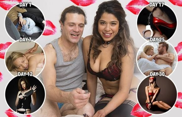 Couple take on The 30 Day Sex Challenge and share diary of their steamy month