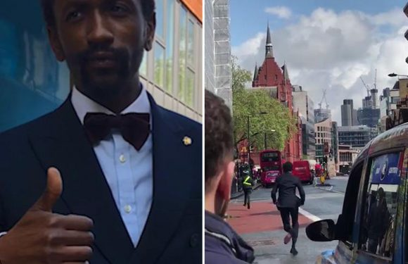 Hero in tuxedo who chased down phone thief on London street reveals himself as 200m runner