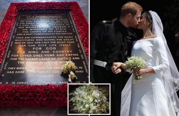 Meghan Markle's Royal Wedding bouquet laid on grave of the Unknown Warrior in touching tribute to nation's war dead