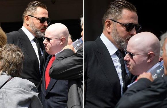David Walliams and Matt Lucas see each other at Dale Winton's funeral for first time after seven year feud