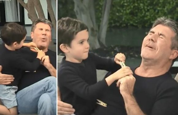 Simon Cowell's son Eric steals the show as he interrupts his dad's Loose Women interview