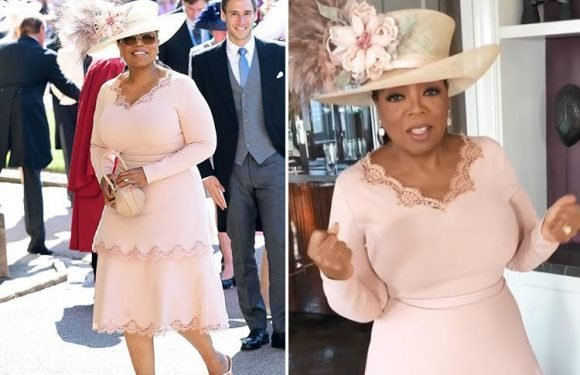 Oprah Winfrey reveals she almost accidentally wore a white dress to Royal Wedding after Kate Middleton's 'cream' dress raises eyebrows