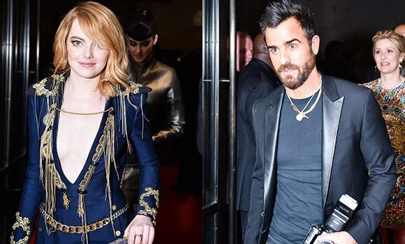 Emma Stone & Justin Theroux Caught Leaving Met Gala Together After Denying Romance — Pic