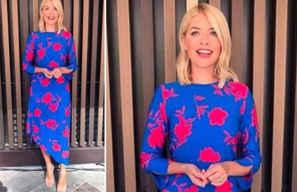 Where does Holly Willoughby's outfit today come from? This Morning host's Henry Holland dress and Office shoes revealed