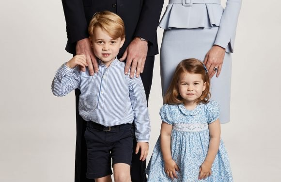 Prince George and Princess Charlotte join wedding Royal wedding party