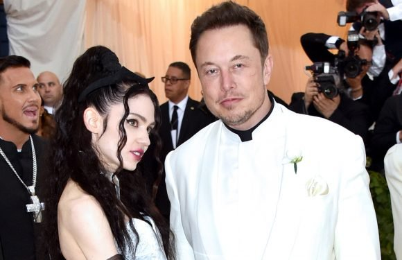 Grimes wears Tesla choker to the Met Gala with Elon Musk