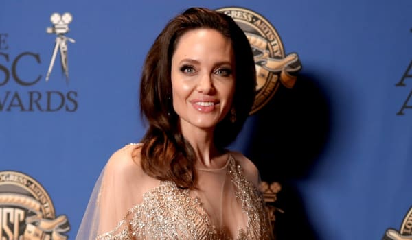 Angelina Jolie is back to work and having a blast