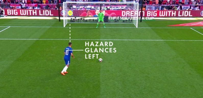 Here's the science behind Eden Hazard's FA Cup winning penalty as he earns the Gillette Precision Play award