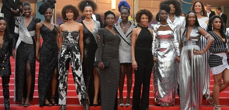 The Actresses of 'My Profession Is Not Black' Took A Stand in Balmain at Cannes Film Festival