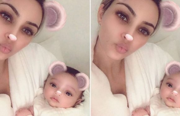 Kim Kardashian Just Shared the Cutest Photo of Saint and Chicago Cuddling in Onesies