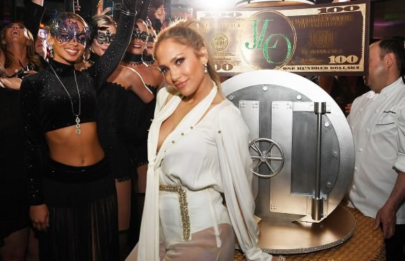 Jennifer Lopez parties in see-through pants