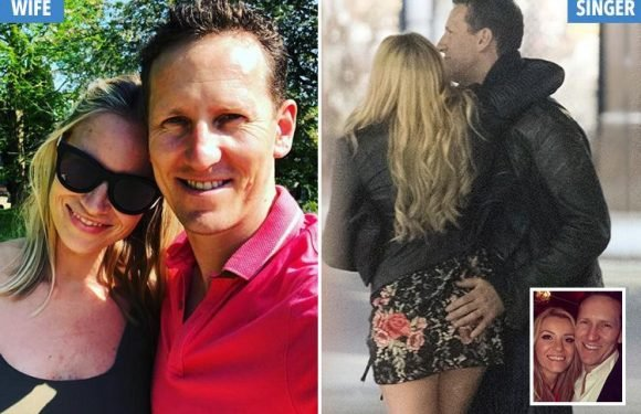 Brendan Cole poses with wife Zoe on day out to their wedding venue hours after getting close to backing dancer Jenna Lee-James