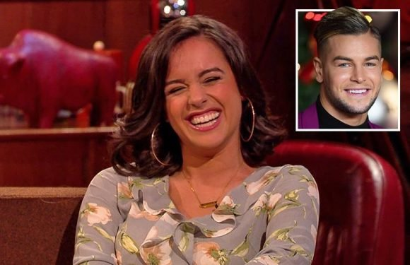 Georgia May Foote squirms when quizzed about romance with Chris Hughes but denies they're dating