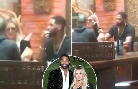 Khloe Kardashian back together with boyfriend Tristan Thompson after cheating scandal as they are filmed eating dinner together