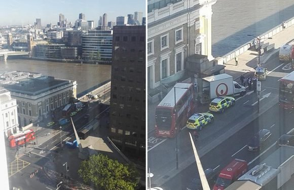 London Bridge closed 'after stolen van smashes into bus before driver leaps into River Thames'