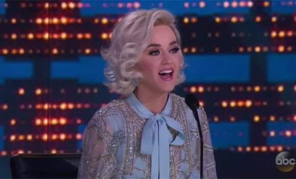 Katy Perry Wows In Baby Blue Jumpsuit & Sparkling Robe On 'Idol' Finale