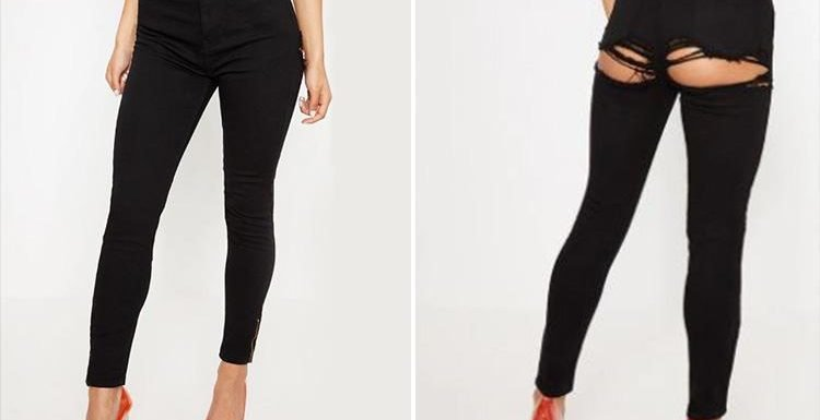 Pretty Little Thing is selling 'bum rip' jeans… and shoppers are so confused
