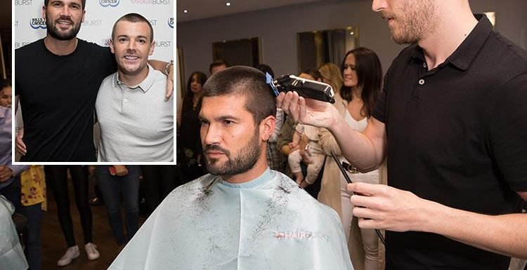 Towie's Dan Edgar and Love Island's Nathan Massey shave their hair off for charity